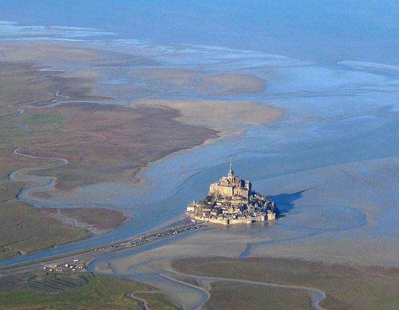 Vista dall'alto di Mont Saint Michel.