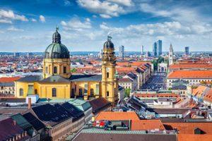 Vista di Monaco di Baviera